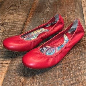 Born Leather Red Julianne Ballet Flats 6.5